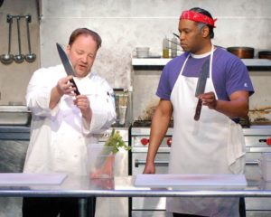 Matt Rapport as Chef George and Damron Russel Armstrong as Steve.