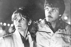 Dee, Chris on the set of The Howling